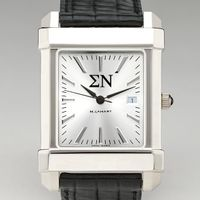 Sigma Nu Men's Collegiate Watch with Leather Strap Image-1 Thumbnail