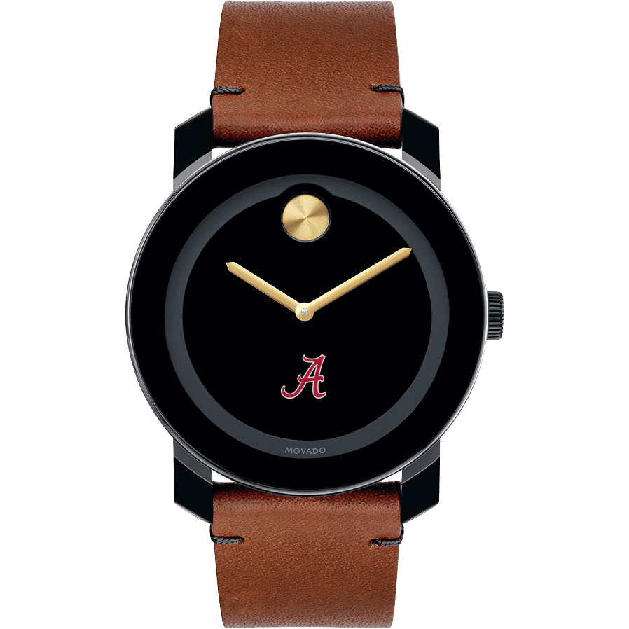 Alabama Men's Movado BOLD with Brown Leather Strap