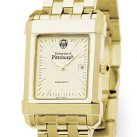 Pittsburgh Men's Gold Quad Watch with Bracelet