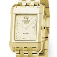 Georgia Tech Men's Gold Quad Watch with Bracelet