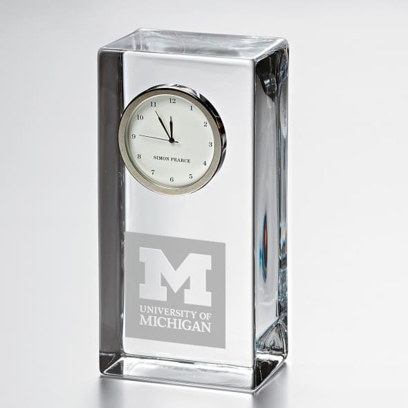 Michigan Tall Desk Clock by Simon Pearce