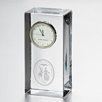 South Carolina Tall Glass Desk Clock by Simon Pearce