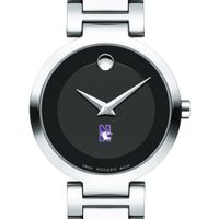 Northwestern Women's Movado Museum with Steel Bracelet Image-1 Thumbnail