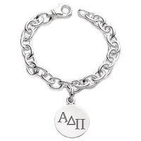 Alpha Delta Pi Sterling Silver Charm Bracelet