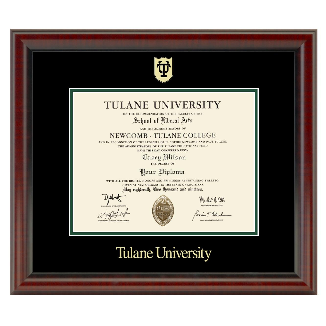 Tulane University Fidelitas Frame