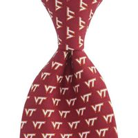 Virginia Tech Vineyard Vines Tie in Maroon