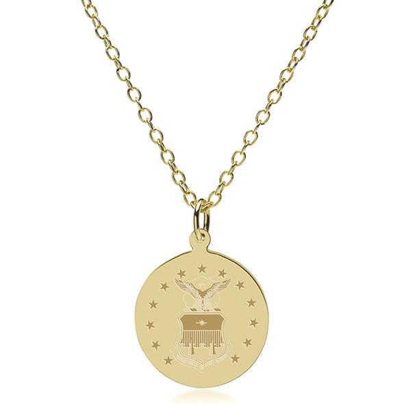 USAFA 18K Gold Pendant & Chain