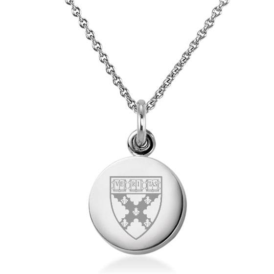 Harvard Business School Sterling Silver Necklace with Silver Charm