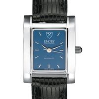 Emory Women's Blue Quad Watch with Leather Strap