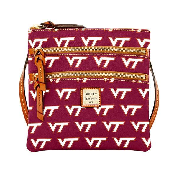 Virginia Tech Dooney & Bourke Triple Zip Bag