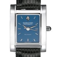 Georgetown Women's Blue Quad Watch with Leather Strap