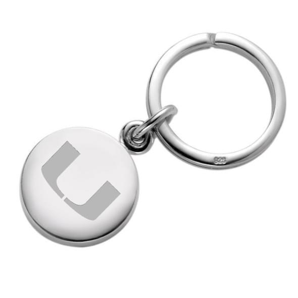 Miami Sterling Silver Insignia Key Ring