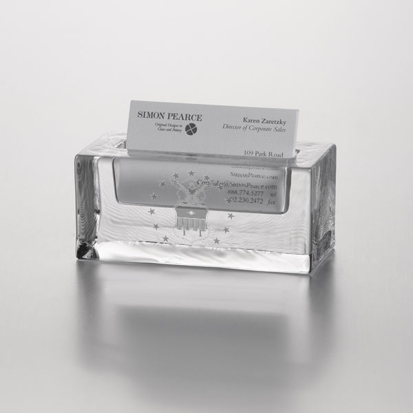 USAFA Glass Business Cardholder by Simon Pearce