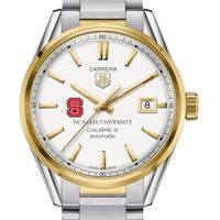 NC State Men's TAG Heuer Two-Tone Carrera with Bracelet