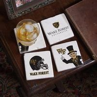 Wake Forest Logos Marble Coasters
