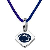 Penn State Silk Necklace with Charm