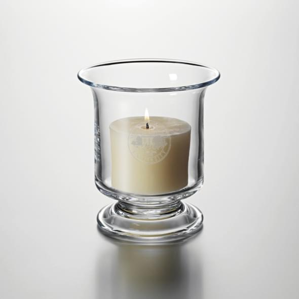 Michigan State Hurricane Candleholder by Simon Pearce