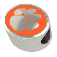 Clemson Enameled Bead in Color
