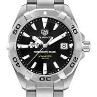 Mississippi State Men's TAG Heuer Steel Aquaracer with Black Dial