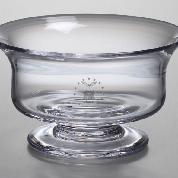 USAFA Large Glass Bowl by Simon Pearce