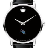 USCGA Men's Movado Museum with Leather Strap