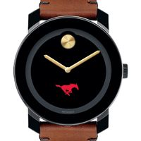 SMU Men's Movado BOLD with Brown Leather Strap