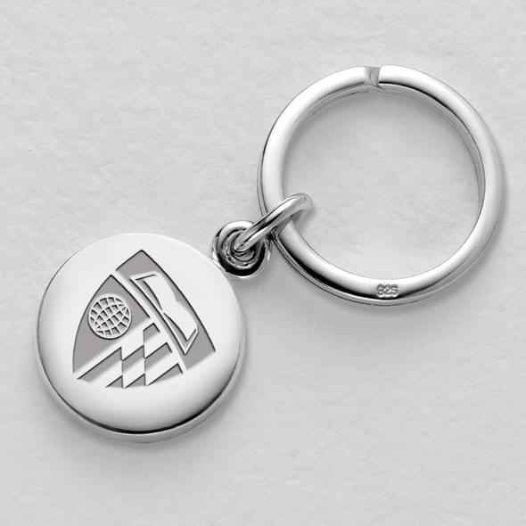 Johns Hopkins Sterling Silver Insignia Key Ring