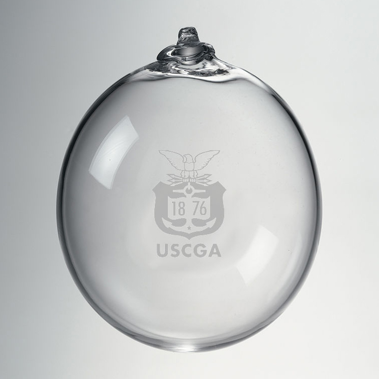 Coast Guard Academy Glass Ornament