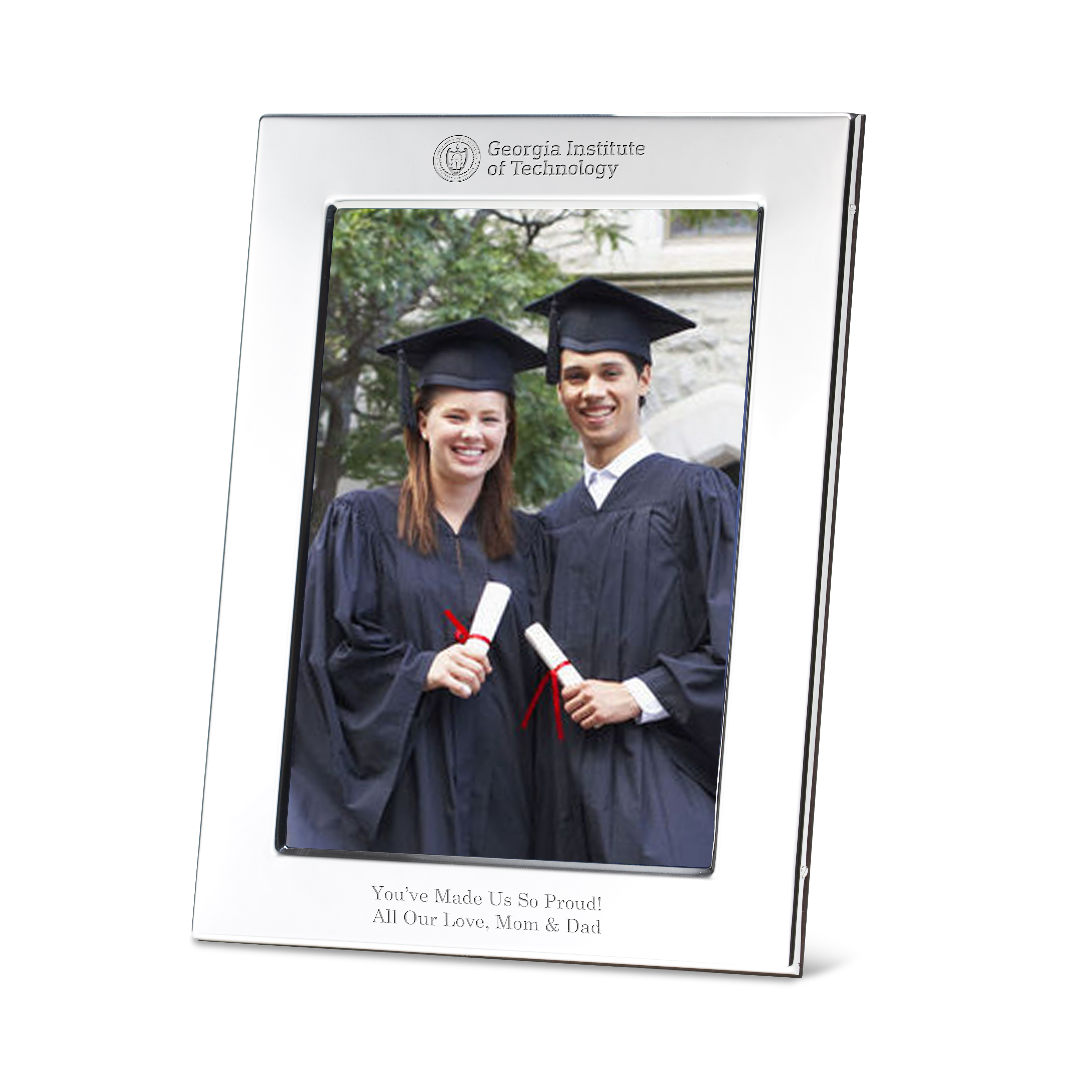 Georgia Tech Polished Pewter 5x7 Picture Frame
