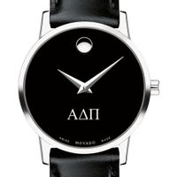 Alpha Delta Pi Women's Movado Museum with Leather Strap Image-1 Thumbnail