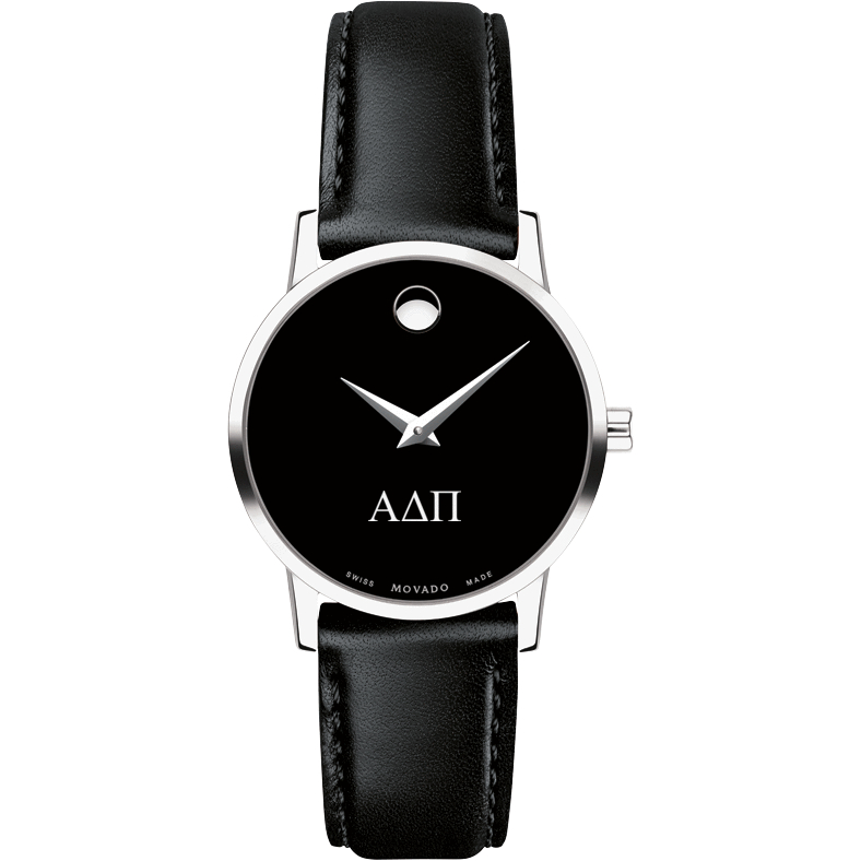 Alpha Delta Pi Women's Movado Museum with Leather Strap