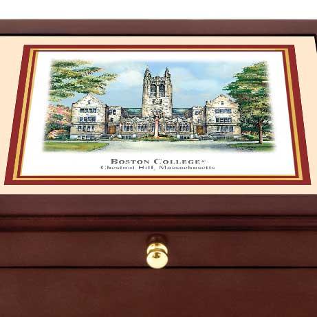 Boston College Eglomise Mini Desk Box