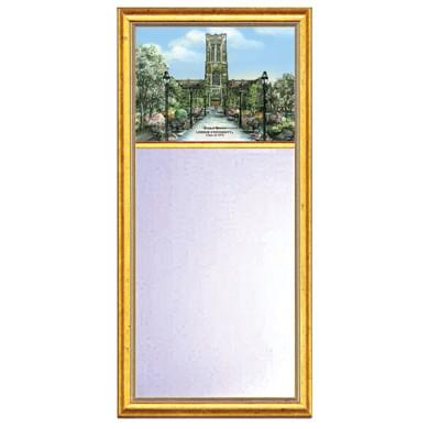 Lehigh Eglomise Mirror with Gold Frame