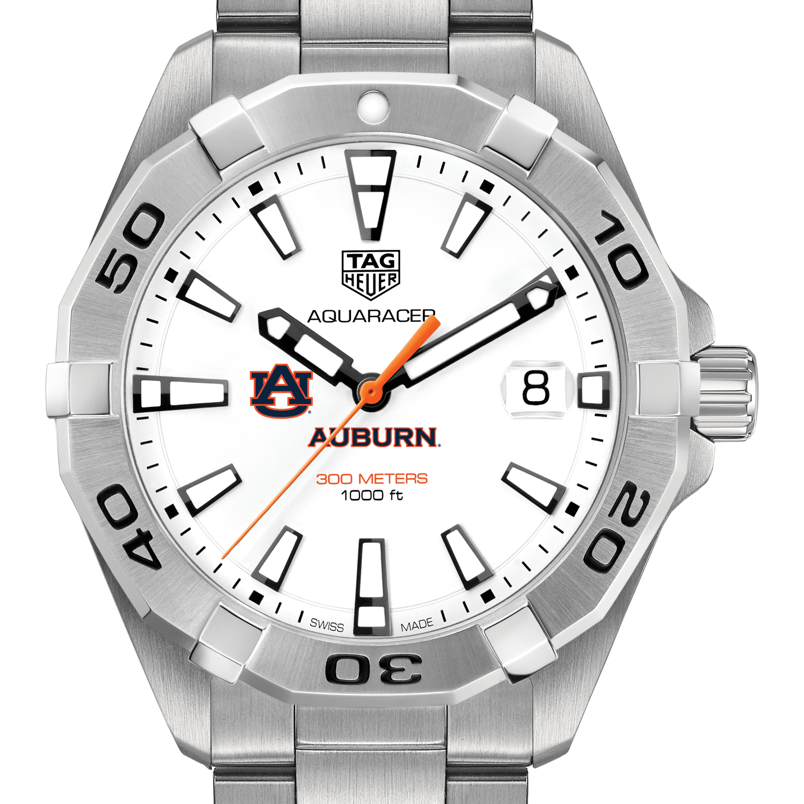 Auburn Men's TAG Heuer Steel Aquaracer
