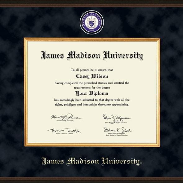 James Madison University Diploma Frame Excelsior