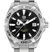 SMU Men's TAG Heuer Steel Aquaracer with Black Dial