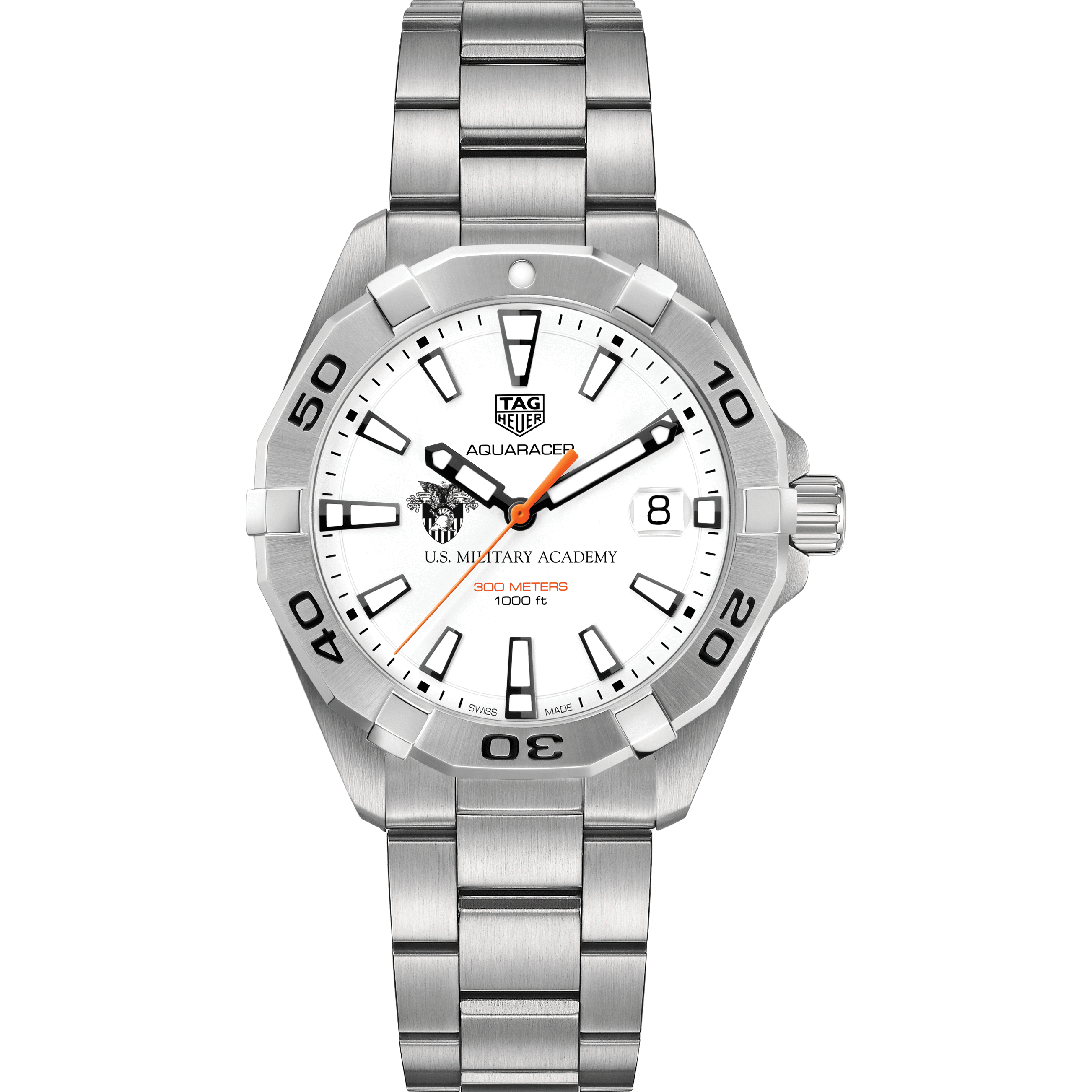 West Point Men's TAG Heuer Steel Aquaracer