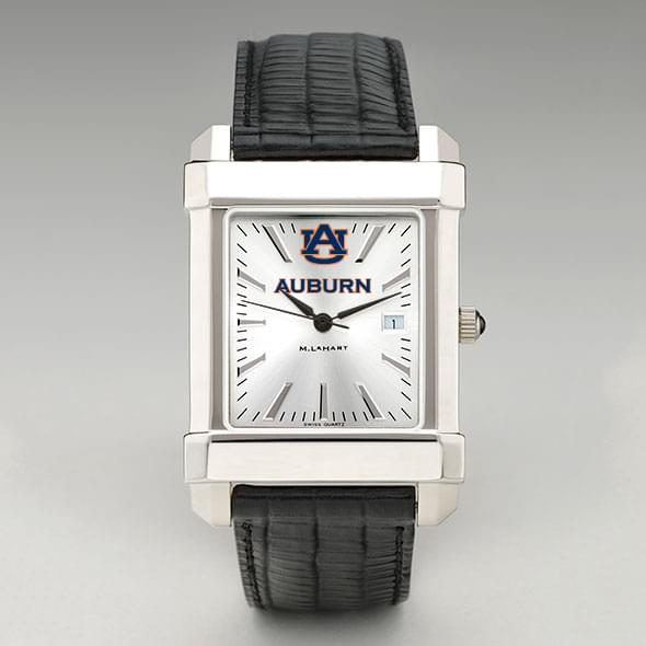 Auburn Men's Collegiate Watch with Leather Strap
