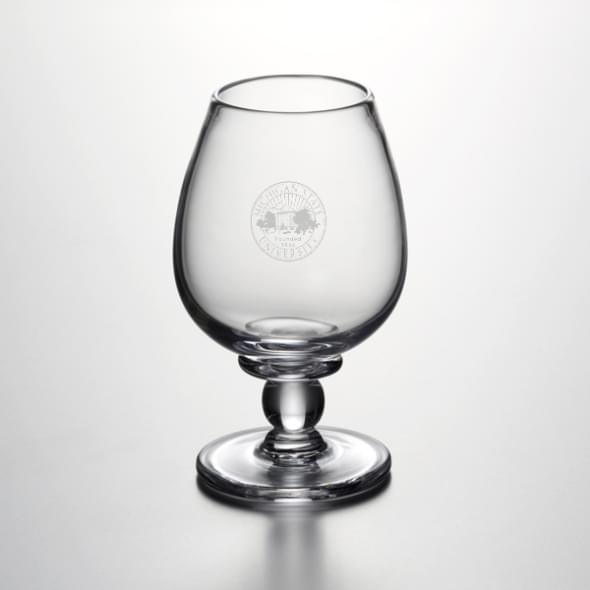 Michigan State Glass Brandy Snifter by Simon Pearce