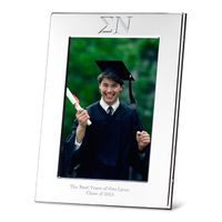 Sigma Nu Polished Pewter 4x6 Picture Frame