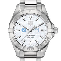 University of North Carolina Women's TAG Heuer Steel Aquaracer w MOP Dial- Championship Edition