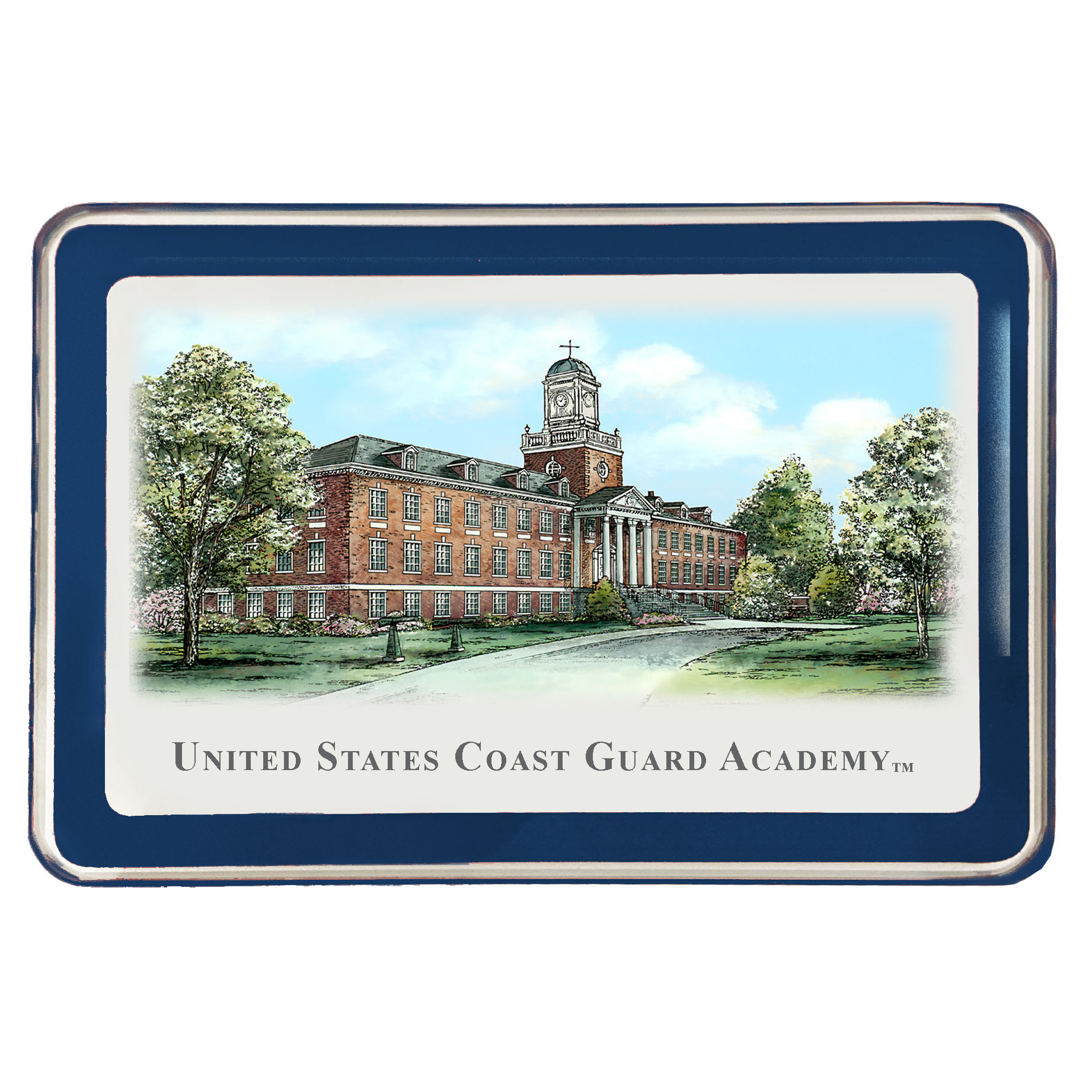 Coast Guard Academy Eglomise Paperweight