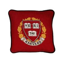 Harvard Handstitched Pillow
