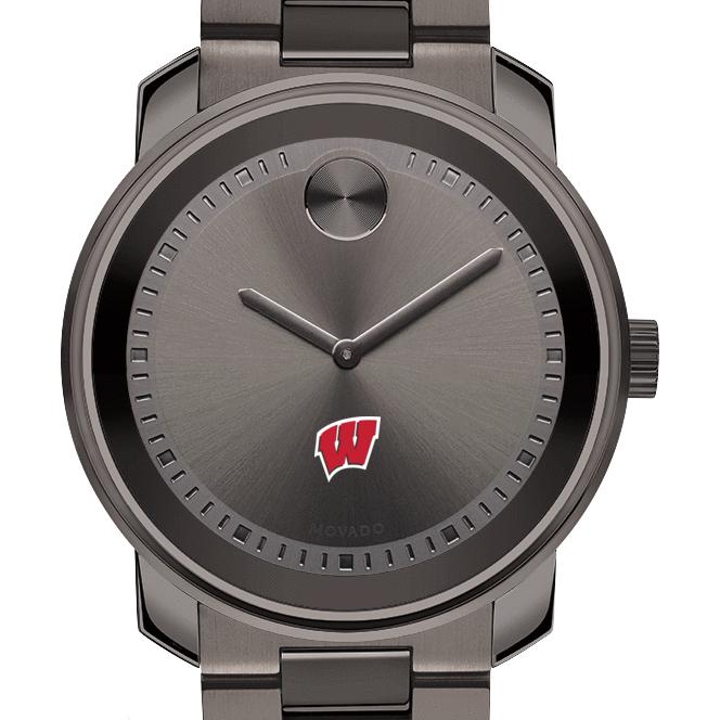 Wisconsin Men's Movado BOLD Gunmetal Grey