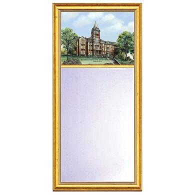 Georgia Tech Eglomise Mirror with Gold Frame