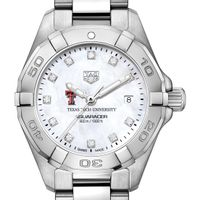 Texas Tech Women's TAG Heuer Steel Aquaracer with MOP Diamond Dial