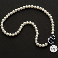 Delta Gamma Pearl Necklace with Sterling Silver Charm Image-1 Thumbnail