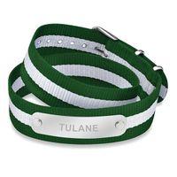 Tulane University Double Wrap NATO ID Bracelet