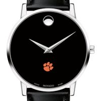 Clemson Men's Movado Museum with Leather Strap