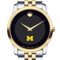 Michigan Men's Movado Two-Tone Museum Classic Bracelet